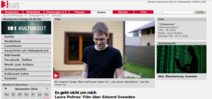 3sat : Es geht nicht um mich Laura Poitras' Film über Edward Snowden