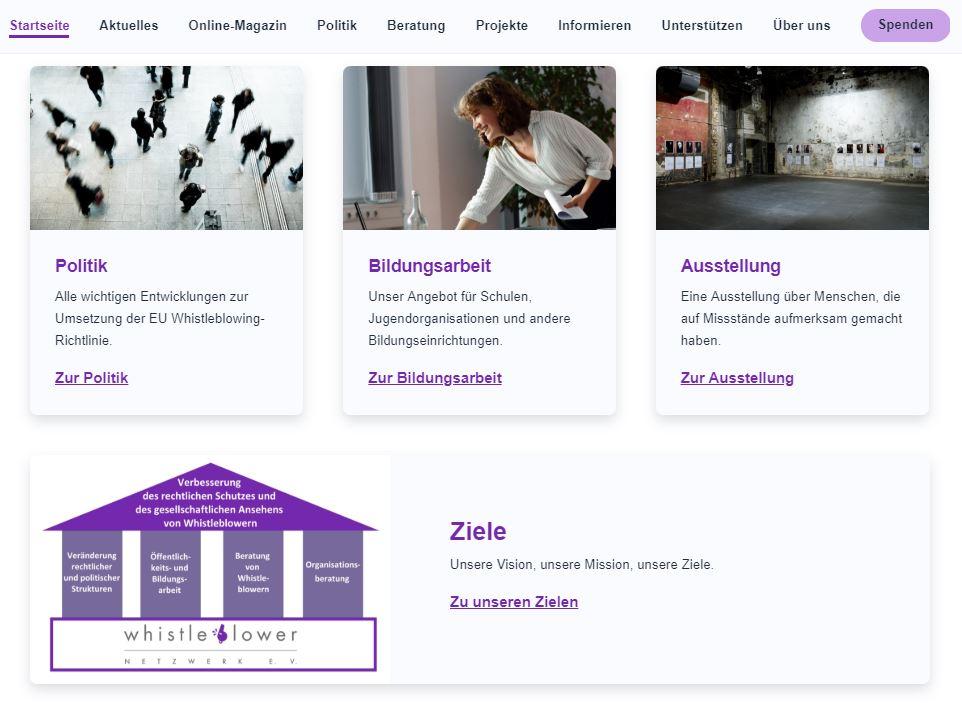 Website Ausschnitt