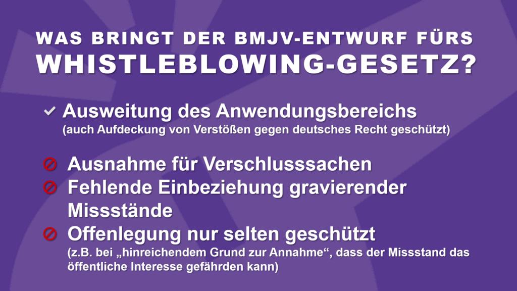 Gesetzesentwurf BMJV