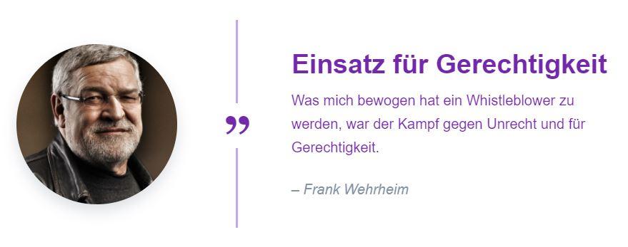 Frank Wehrheim Testimonial